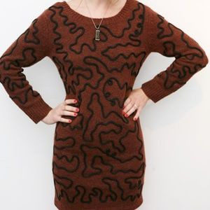 Opening Ceremony Re-Edition Squiggle Sweater Dress